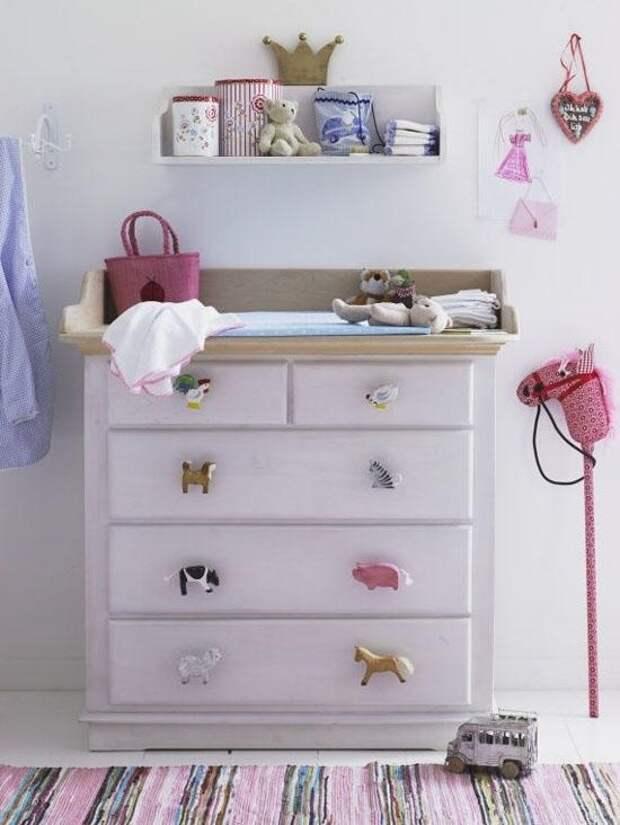 Мебельные ручки в детской