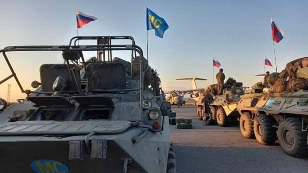 Российские миротворцы в Карабахе провели праздничный митинг по случаю Дня Победы