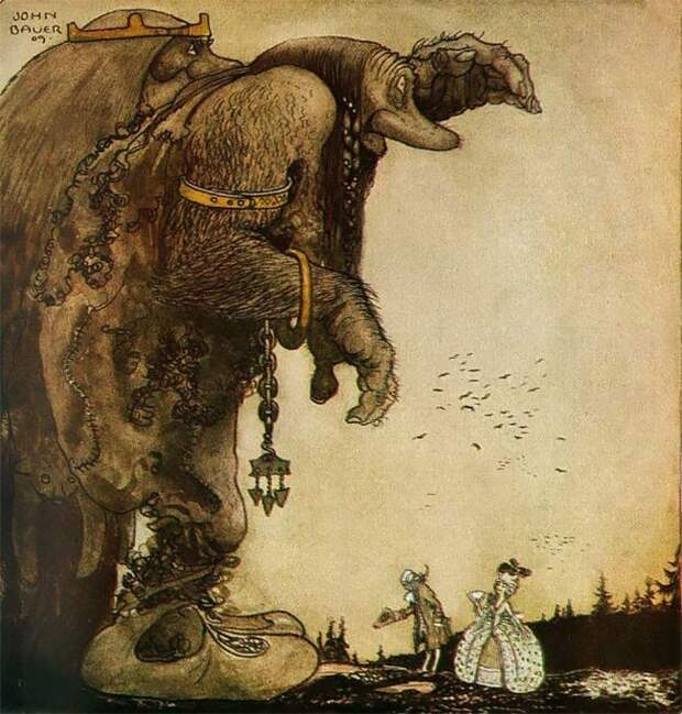 Сказочные иллюстрации начала 20-го века отЙона Бауэра