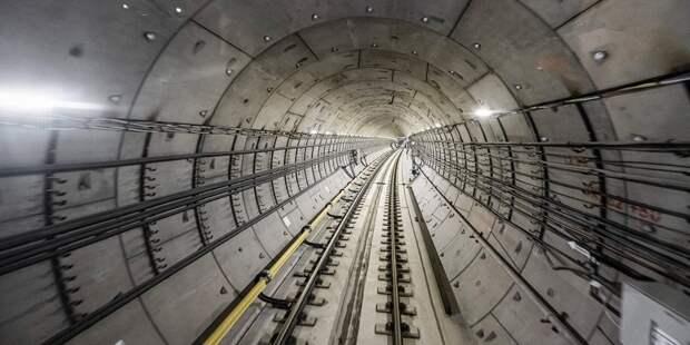Проходка тоннелей к будущей станции «Физтех» готова на 80%