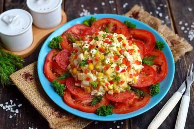 Изысканный салат Африканская роза. Красивый, вкусный и свежий салатик для любого торжества 2