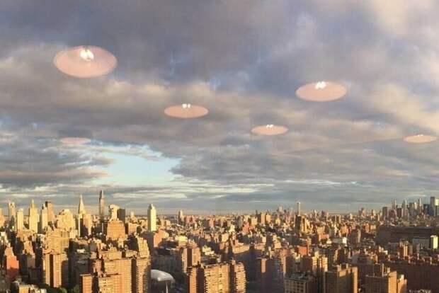 Говорят, это снимок городского пейзажа из окна освещенного лампами офиса. Но, кажется, они от нас что-то скрывают