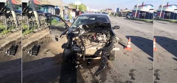 «Отбросило на гаражные ворота»: в Омске на 7-й Северной произошла смертельная авария