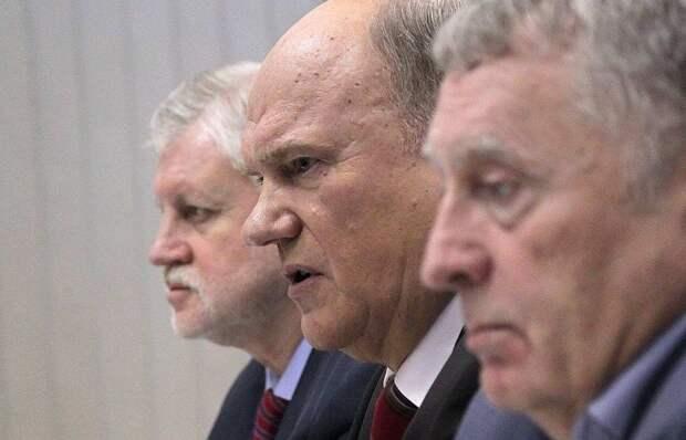 Коммунисты объявили, что с Жириновским и Мироновым сдерживают бунт в России