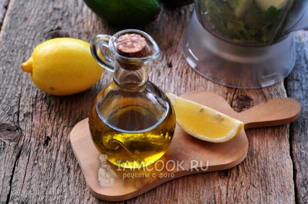Подготовить дольку лимона и масло