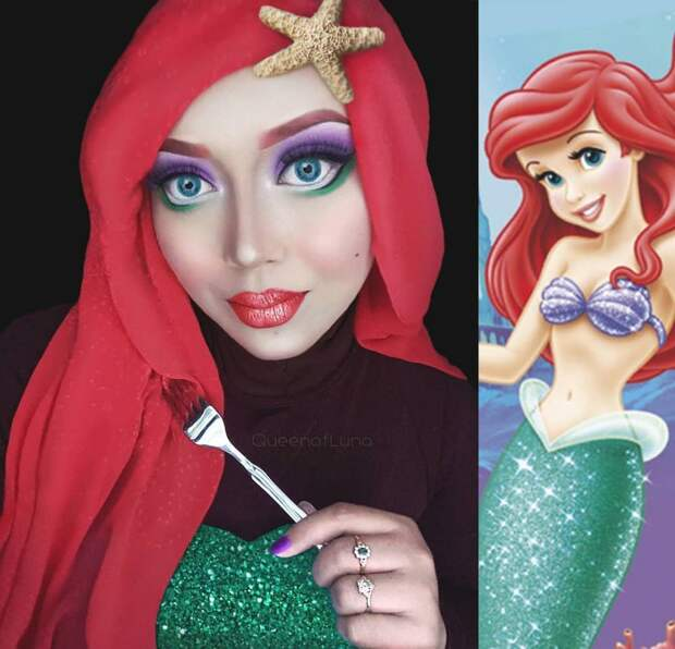 8 крутых фото визажистки, которая превращается в принцесс с помощью хиджаба