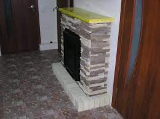 Как сделать встроенный камин своими руками