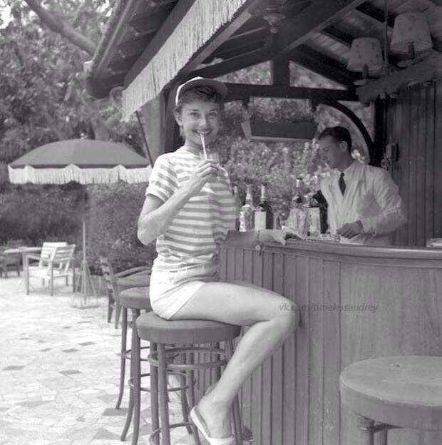 Одри Хепбёрн. Монако, 1951 год.