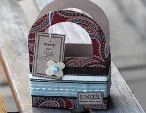 подарочная коробочка Корзинка