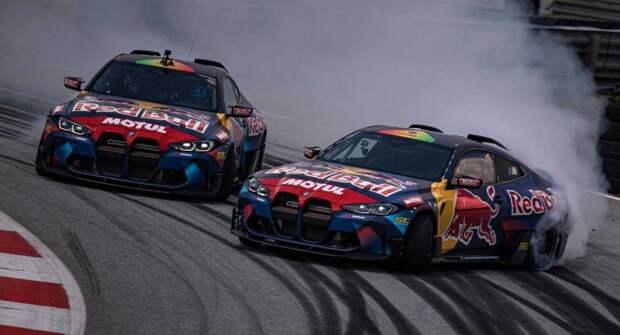В Сети показан красивый парный дрифт при участии новых BMW M4 Competition