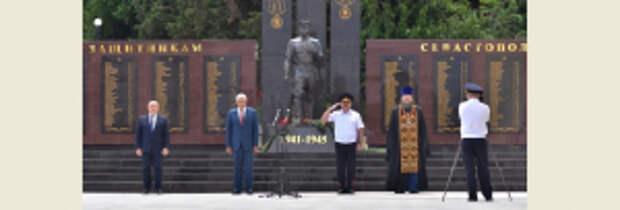 Владимир Колокольцев принял участие в открытии мемориала в память о милиционерах – защитниках Севастополя