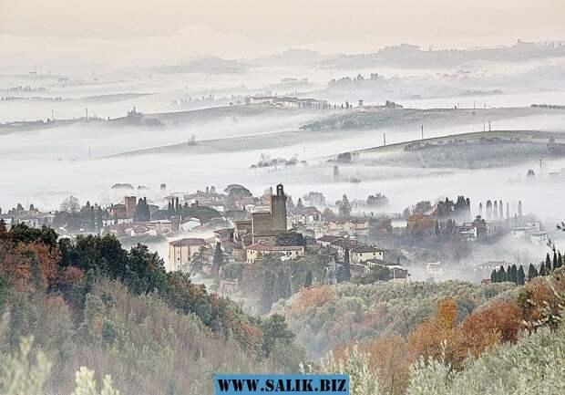 Городок Винчи, где жил знаменитый художник. Фото: Доменико Алесси (Domenico Alessi).