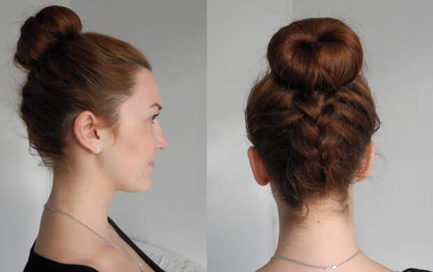 бублик на короткие, средние и длинные волосы фото 6