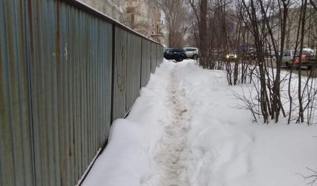 Оренбуржцы возмущены качеством уборки снега вгороде