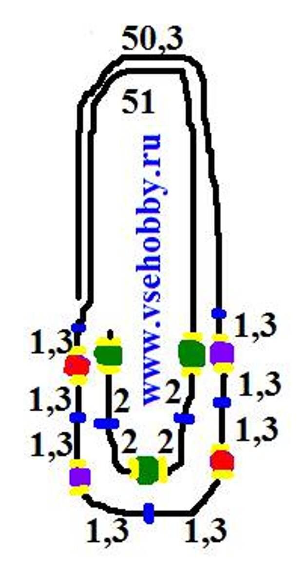 Схема сборки бус шариков