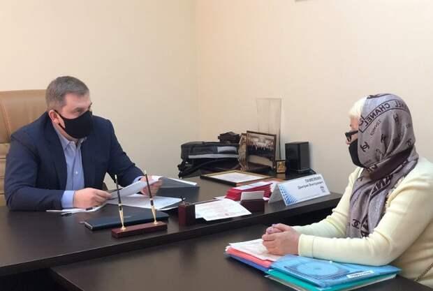 Депутат Госдумы Дмитрий Ламейкин провел прием граждан