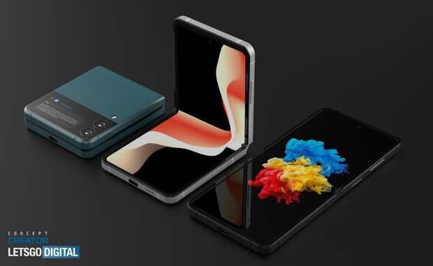 «Раскладушку» Samsung Galaxy Z Flip 3 показали на рендерах: двухцветный дизайн, двойная камера и увеличенный экран