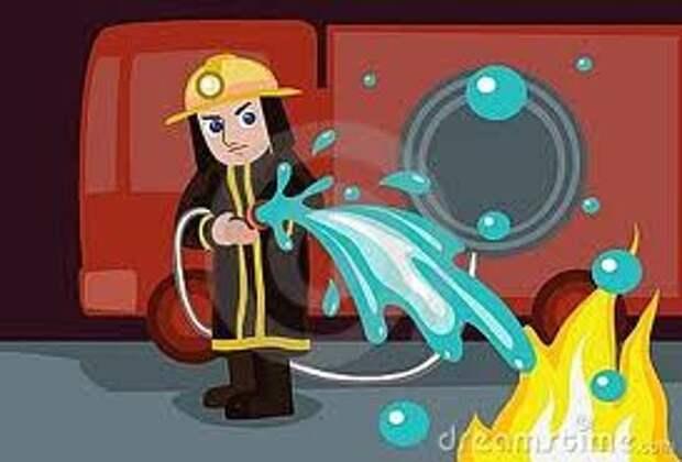 Почему вода тушит огонь.