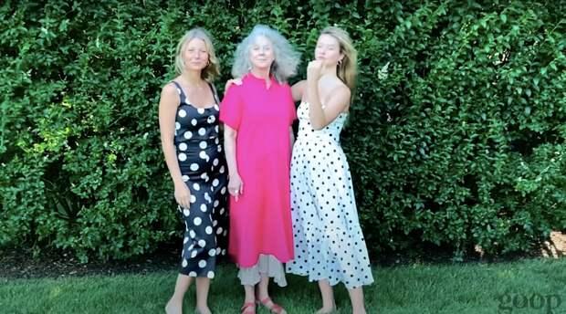 Гвинет с матерью Блайт и дочкой Эппл