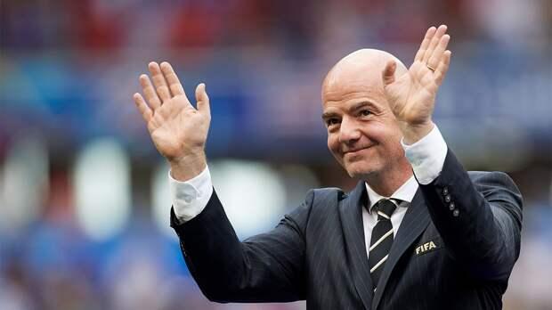 Зарплата Инфантино на посту президента ФИФА в 2020 году составила 2,1 млн долларов плюс еще 1 млн в виде бонуса