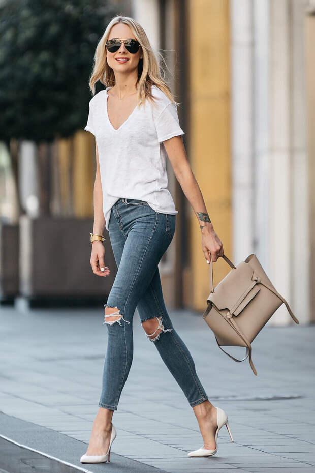 Как носить узкие джинсы-скинни, чтобы выглядеть стильно