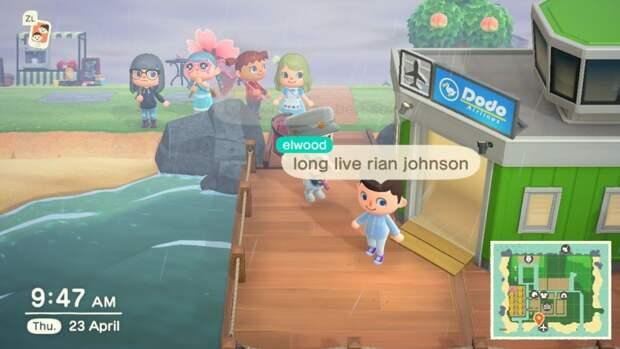 Девушка пригласила всех на её остров в Animal Crossing. Пришёл Элайджа Вуд