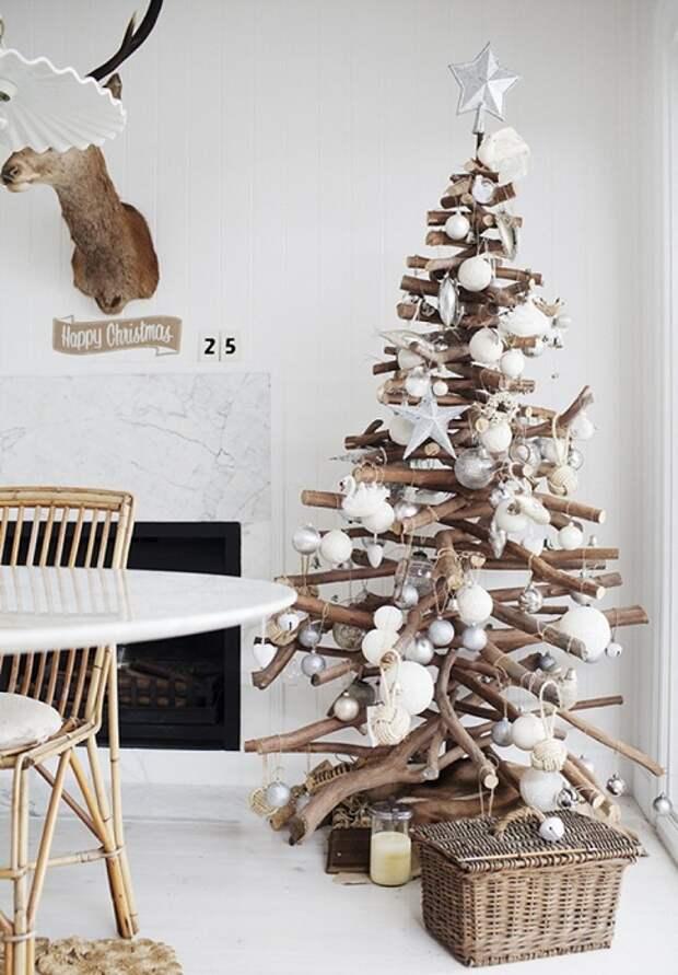 Интересный интерьер комнаты, создал по-настоящему новогоднюю сказку.