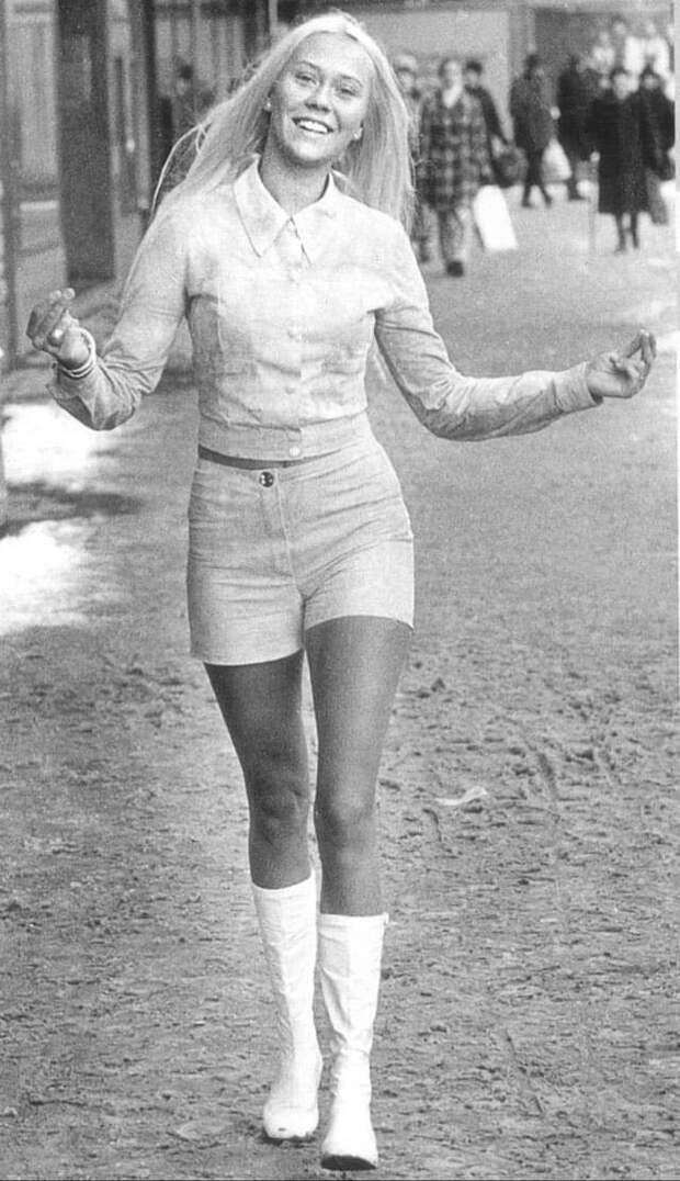 Участница группы ABBA Агнета Фельдског, 1970-е.
