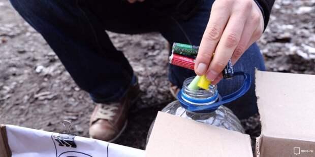 Использованные батарейки собирают для переработки в «Неве»