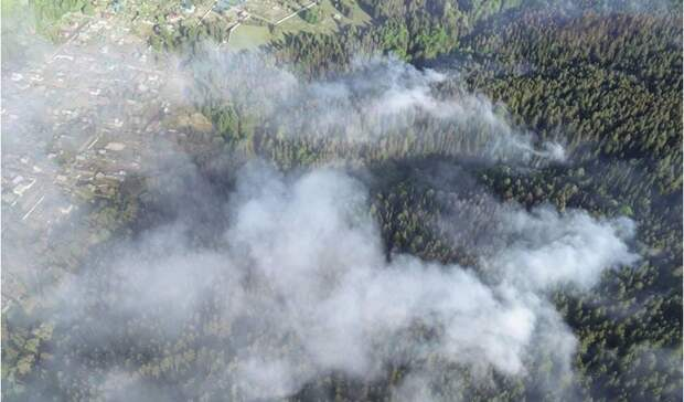 Натерритории возгорания вВоткинском районе Удмуртии введен режим ЧС