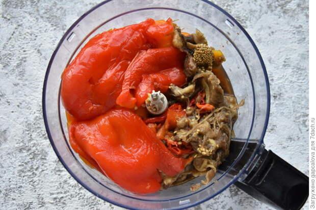Болгарская лютеница: закуска из сладких перцев и баклажанов
