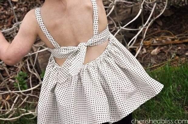 детское платье без выкройки своими руками