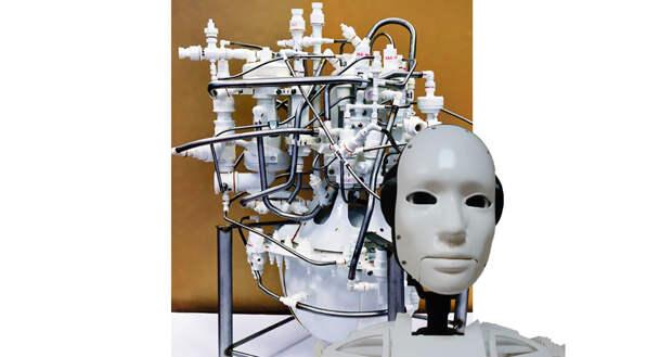 Ракетный двигатель помогает создавать робот