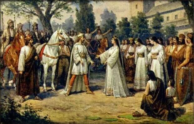 Встреча Пржемысла и Либуше