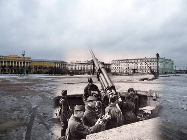 Ленинград 1942-2009 Марсово поле. Зенитчики на защите ленинградского неба блокада, ленинград, победа