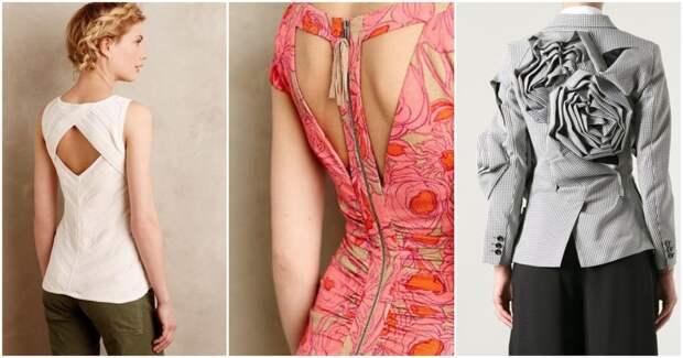 Всего одна деталь, а какой эффект! Красивые спинки на блузах и платьях