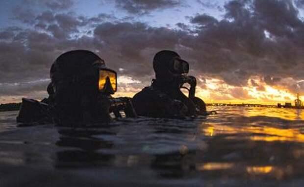 На фото: американские «морские котики» во время тренировки