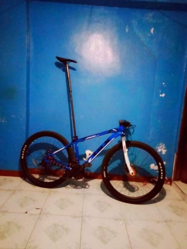 Велосипед с высоким седлом