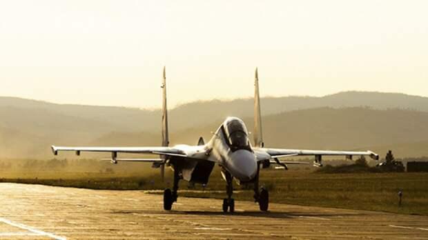 Су-30 ВКС РФ сопроводил три самолета ВВС Франции в Черном море