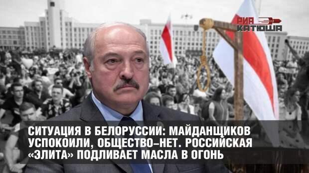 Ситуация в Белоруссии: майданщиков успокоили, общество-нет. Российская «элита» подливает масла в огонь