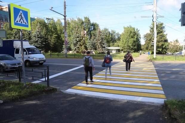 Ижевску вернули пешеходный переход на перекрестке улиц Кирова и Горького