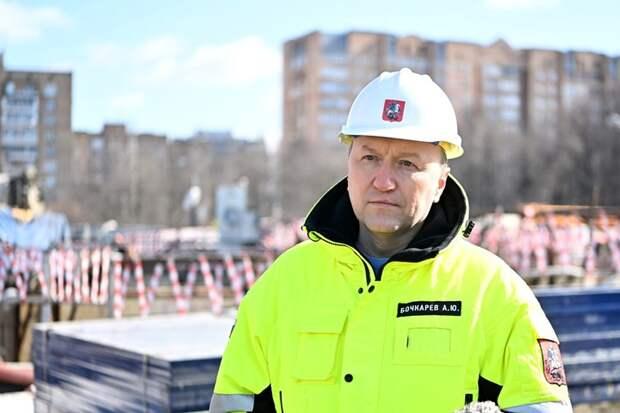 Андрей Бочкарев рассказал о ходе строительства станции «Лианозово»