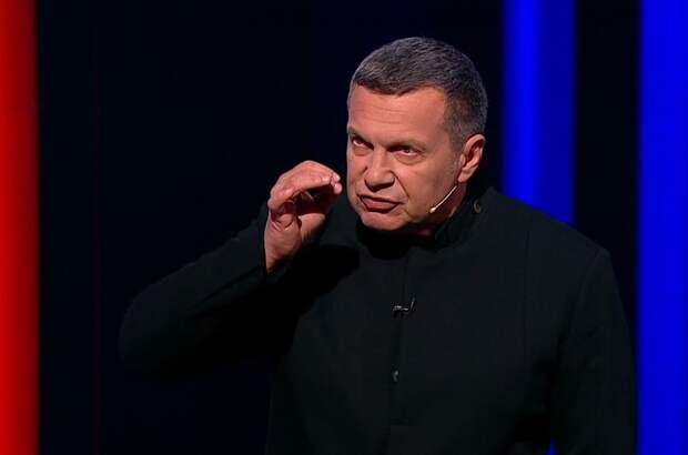 Владимир Соловьёв еле сдержался, чтобы не пойти с кулаками на украинского экс-депутата