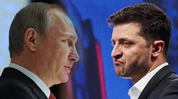 Зеленский «забился под стол» от Путина