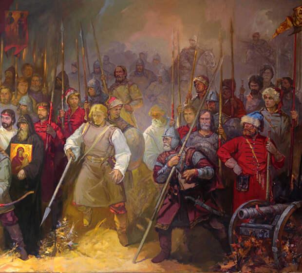 фрагмент картины Судбищенская битва. худ. Анатолий Костянников