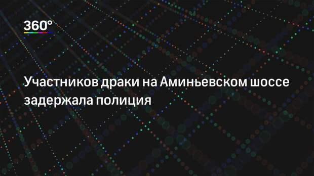 Участников драки на Аминьевском шоссе задержала полиция