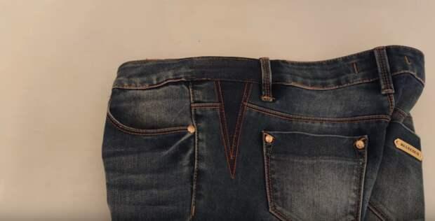 Самый простой способ увеличить джинсы, если они стали малы в талии. Справится любой