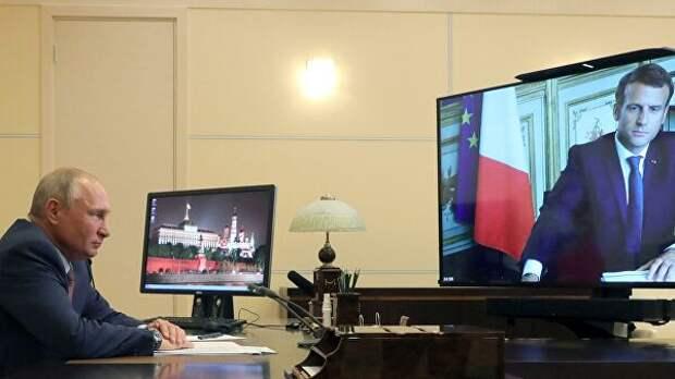 В Кремле рассказали подробности видеобеседы Путина и Макрона