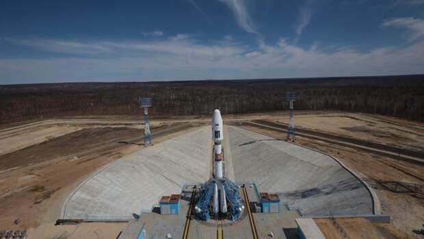 Ракета для полета актрисы Пересильд на МКС прибыла к стартовому столу Байконура