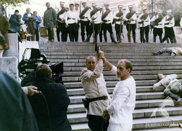 Фотографии со съёмочной площадки фильма «Дежа вю».
